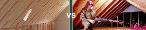Comparing Blown Spray foam Insulation vs Fiberglass Costs, Types and R-Values
